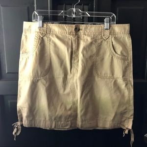 Old Navy khaki mini skirt